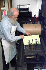 John Easson at his Scottish Printing Museum
